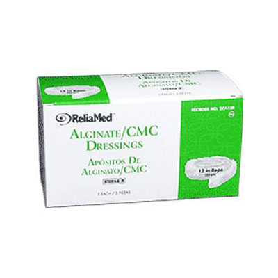 Reliamed 12in Calcium Alginate Rope Cmc Blend, 5 per Box