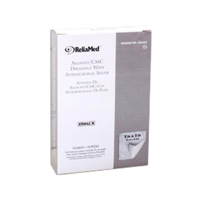 Reliamed 2in x 2in Silver Cmc Alginate Pad 10 per Box