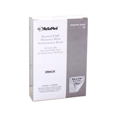 Reliamed 2in x 2in Silver Cmc Alginate Pad 10 per Box