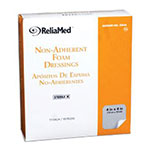 Reliamed 4 x 4 Foam Dressing W Film Backing, 10 per Box