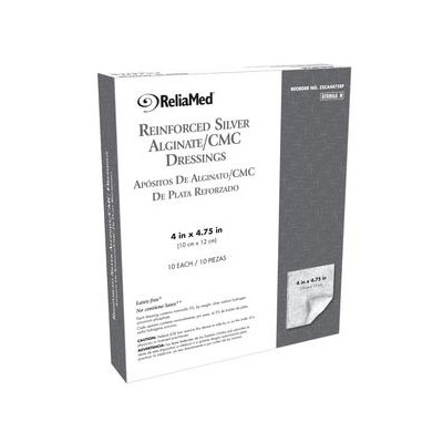 Reliamed 4in x 4 75in Silver Alginate Cmc Blend, 10 per Box
