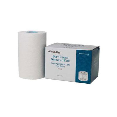 Reliamed 4in x 10 yds (80) Soft Cloth Surgical Tape