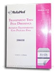 ReliaMed Transparent Thin Film Dressings - 6 in x 8 in - Box of 10