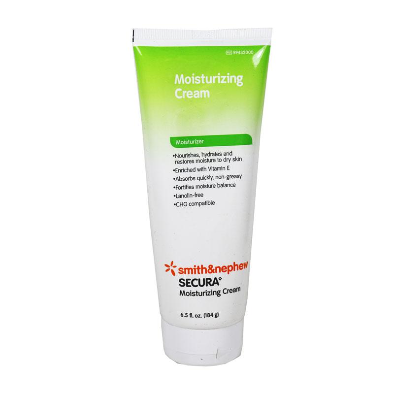 Smith and Nephew Secura Moisturizing Cream 6.5oz 6/Pack 59432000