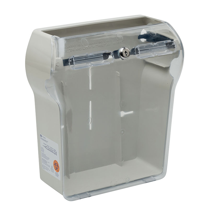 Sharps-A-Gator Wall Cabinet for Sharps Container, Almond - 10ct