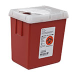 SharpSafety Sharps Container Phlebotomy 2.2 Quart - Red thumbnail