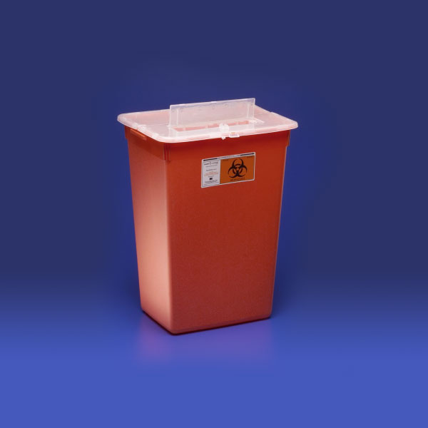 Sharps-A-Gator Sharps Container 10 Gallon, Red - 6ct