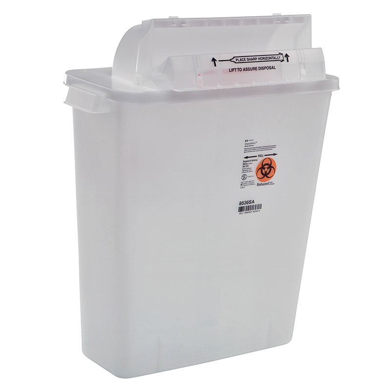 SharpSafety Safety In Room Sharps Container 2 Gallon - Clear