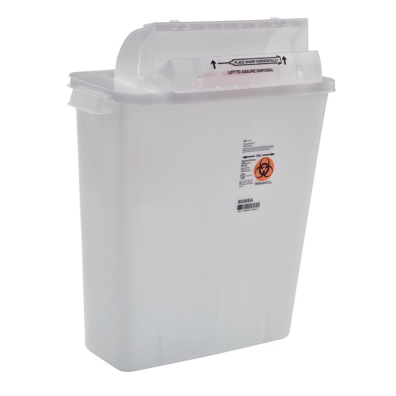 SharpSafety Saftey In Room Sharps Container 3 Gallon - Clear