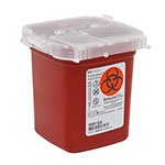 SharpSafety Sharps Container Phlebotomy 1 Pint - Red thumbnail