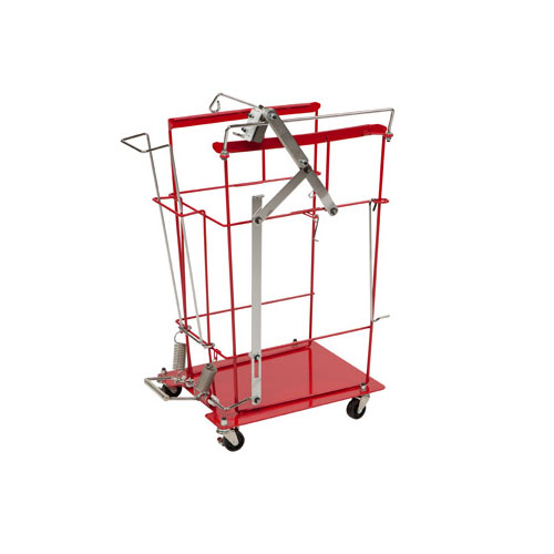SharpSafety Foot Pedal Cart for Slide Lid Container, 12 & 18 Gallon