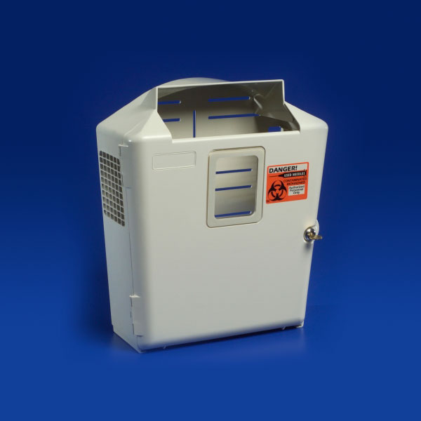 SharpSafety Wall Enclosure with Glove Box - in Room Container 2 & 5 Qt