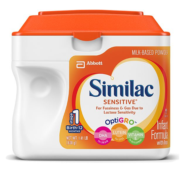Abbott Similac Sensitive 1.45 Lb Can Unflavored Case of 6