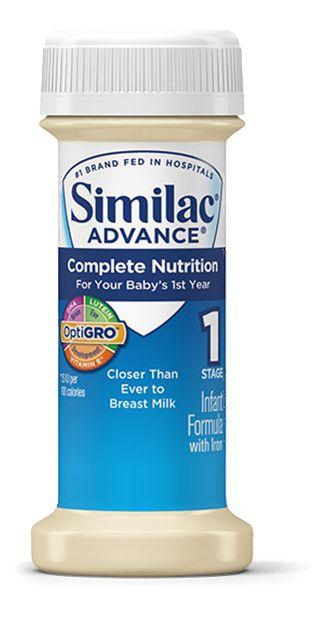 Abbott Similac Advance OptiGRO 2oz Plastic Bottle Case of 48