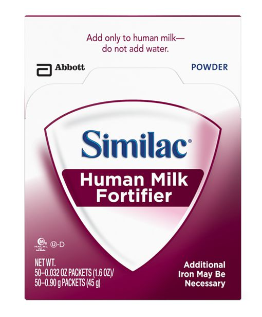 Abbott Similac with Iron Human Milk Fortifier Powder 50/bx Case of 3