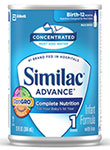 Abbott Similac Advance w/Iron Concentrate Retail 13oz Case of 12