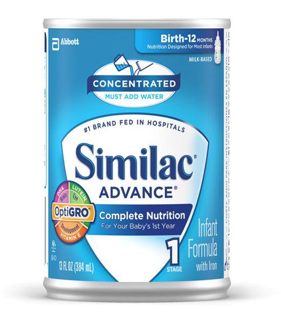 Abbott Similac Advance w/Iron Concentrate Retail 13oz Each