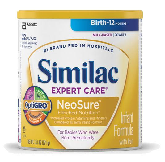 Abbott Similac Expert Care Neosure w/Iron 13.1oz Powder Case of 6