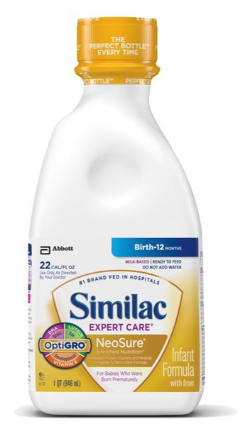 Abbott Similac Expert Care Neosure Ready To Feed 1 Qt Case of 6