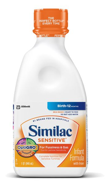 Abbott Similac Sensitive Early Shield Ready to Feed 32oz Each