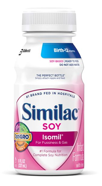 Abbott Similac Isomil Soy Advance w/Iron Ready To Feed 8oz 24-Pack