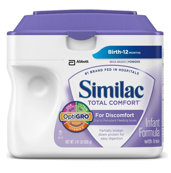 Abbott Similac Total Comfort Powder Infant Formula 638g Pack of 4