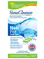 SinuCleanse Neti Pot Clear Blue - Genie Style