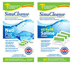 SinuCleanse Neti Pot Clear Blue With 60 Saline Packets