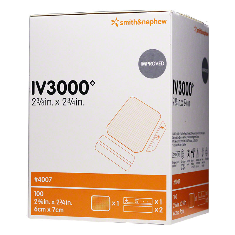 Smith Nephew IV 3000 Transparent Dressing 4007, 9 boxes of 100