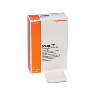 Smith and Nephew Solosite Gel Dressing 2in x 2in 6 per Pack 59482300