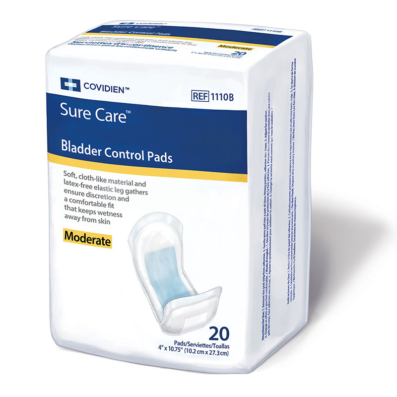 Covidien SureCare Bladder Control Pads 4x10.75 Extra Absorb 20ct