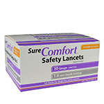 Sure Comfort 30G Safety Lancets 1.6mm Depth 100 per Box