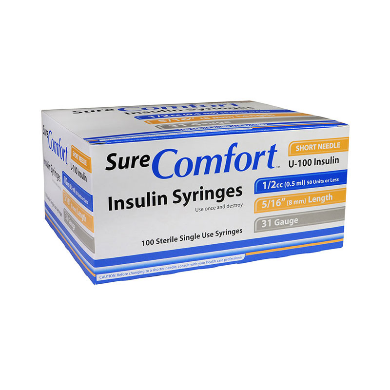 Sure Comfort Insulin Syringes