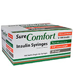 SureComfort U-100 Insulin Syringes 29G 1cc 1/2 inch 100/bx