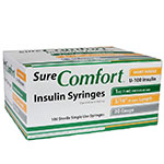 SureComfort U-100 Insulin Syringes 30g 1cc 5/16in 100/bx Case of 5