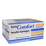SureComfort U-100 Insulin Syringes 31G 1/2cc 5/16
