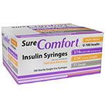 SureComfort U-100 Half Unit Insulin Syringes