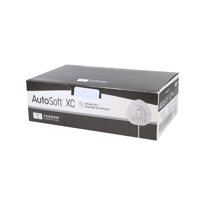 Tandem Autosoft XC Infusion Set 9mm 23 inch Gray 10 Count