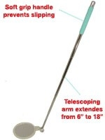 Telescoping Self Exam Foot Mirror 20012