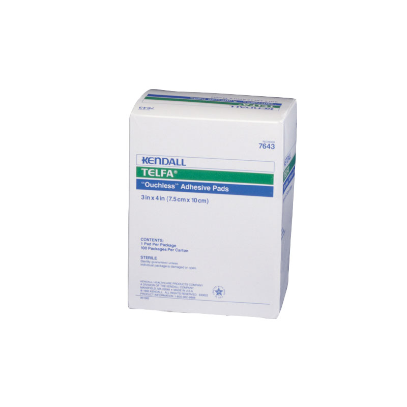 Covidien TELFA Sterile Ouchless Adhesive Dressing 3x4 100ct