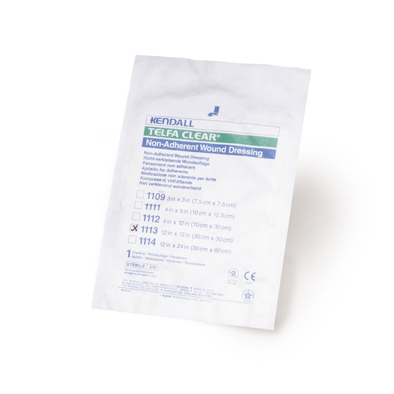 Kendall TELFA Pre-Cut Clear Wound Contact Dressing 12x12 25/bx