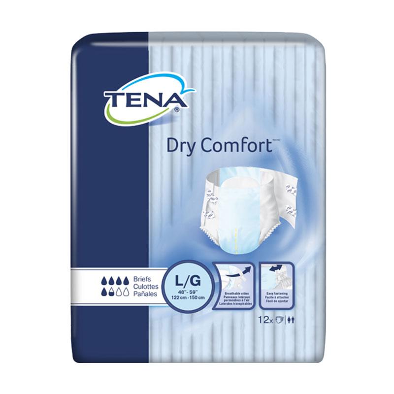 TENA Dry Comfort Briefs, 48