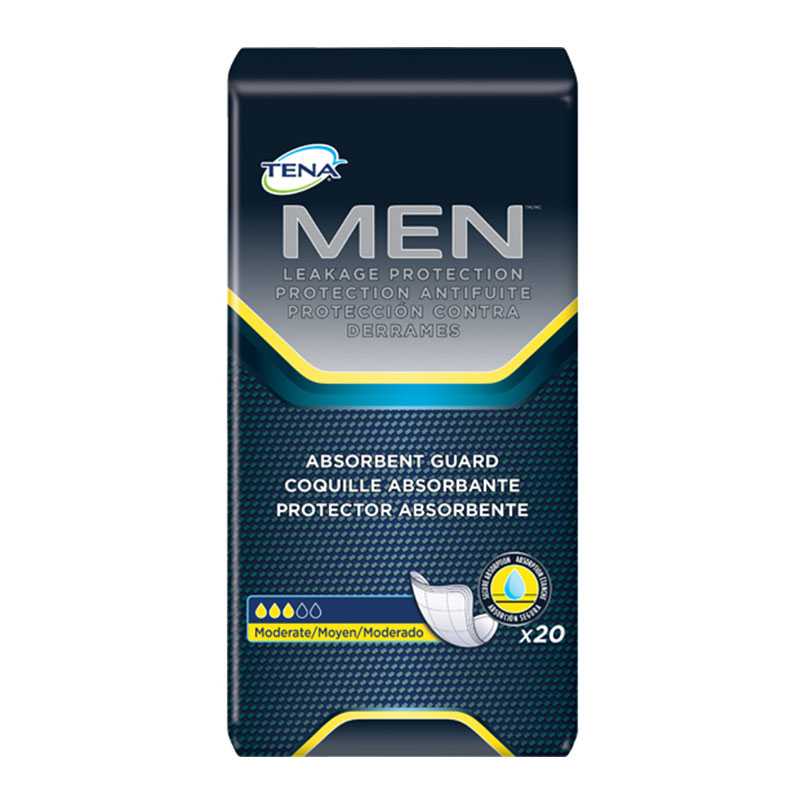Tena For Men Incontinence Pads 50600 - White - Package of 20