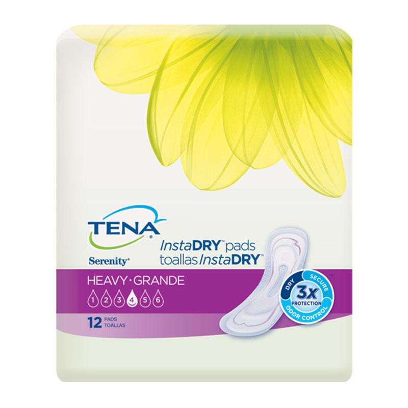 TENA Serenity InstaDRY Pads, Heavy - 12/bag