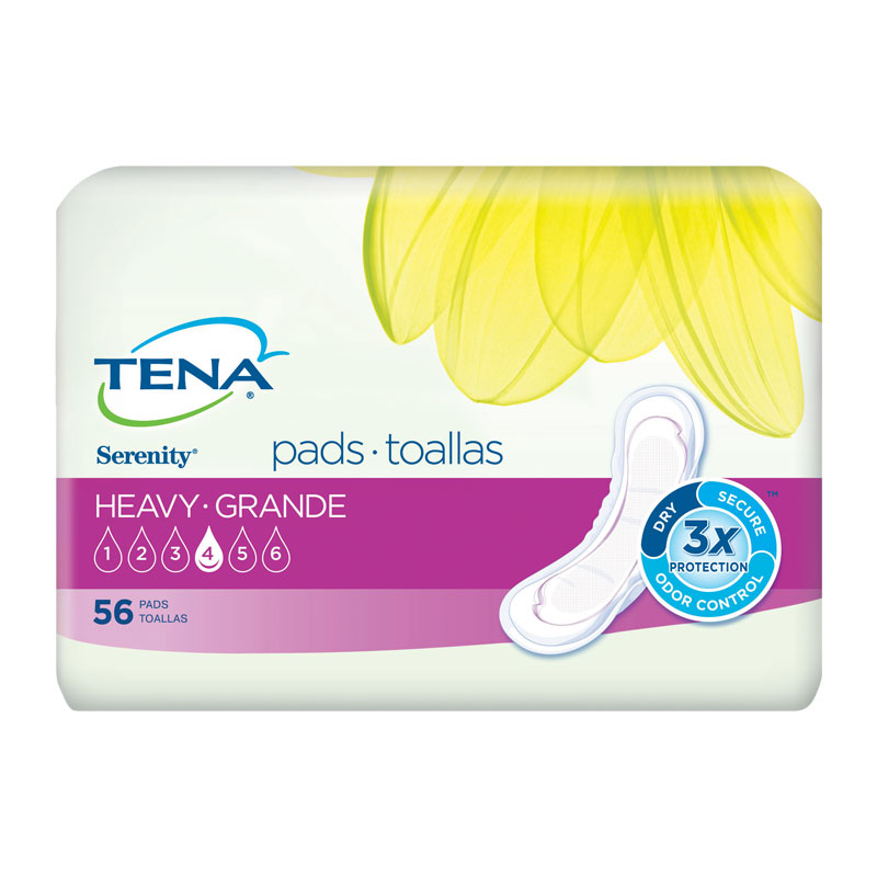 TENA Serenity Pads, Ultra Absorbency, Heavy - 168/case