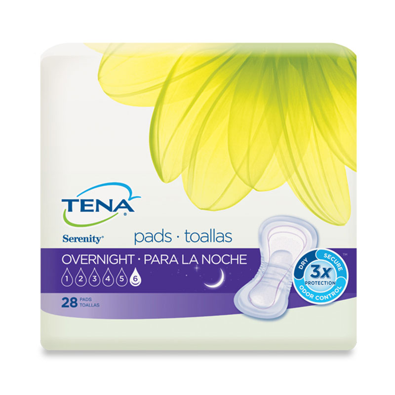 TENA Serenity Overnight Pads - 28/bag