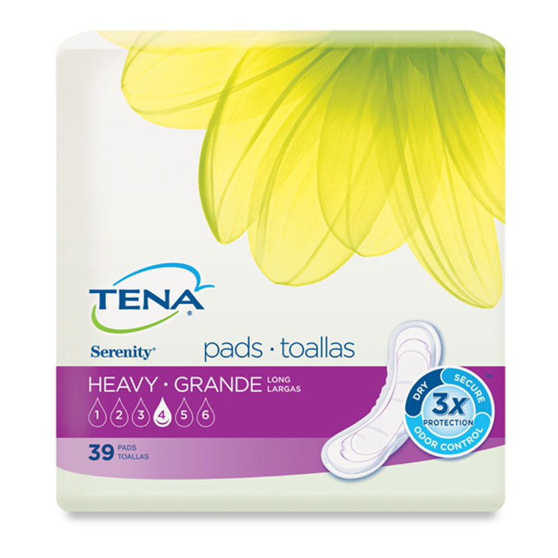 TENA Serenity Pads, Long, Heavy - 39/bag