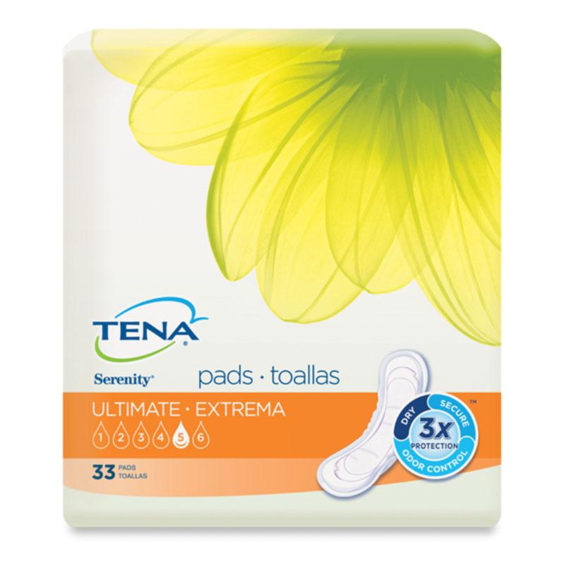 TENA Serenity Pads, Long, Ultimate - 33/bag