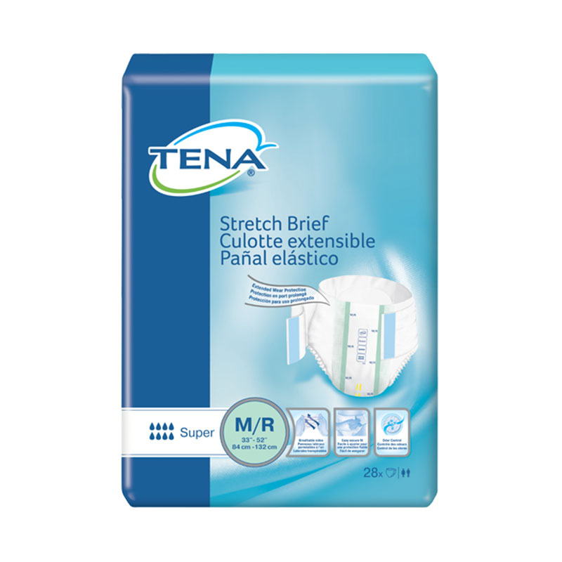 TENA Stretch Briefs, Super Absorbency, 33