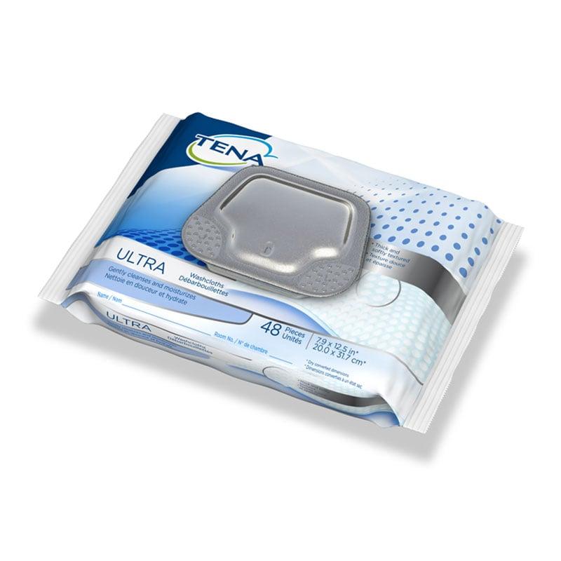 TENA Ultra Washcloths, 8